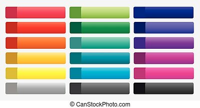 Set of colorful buttons for web