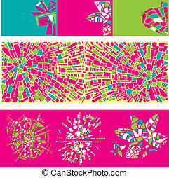 Set of colorful design elements of