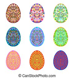 Set of colorful Easter eggs.