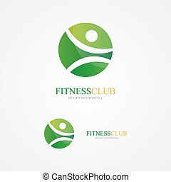 Set of colorful fitness  logo