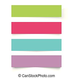 Set of colorful frame banners. Vector.