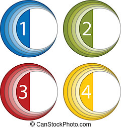 Set of Colorful Frames with Numbers