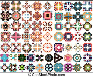 Set of colorful geometric symmetric shape