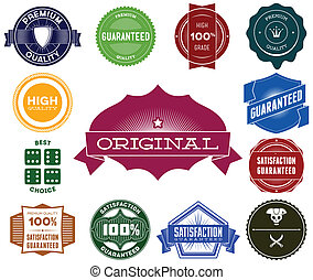 Set of colorful hipsters vintage labels