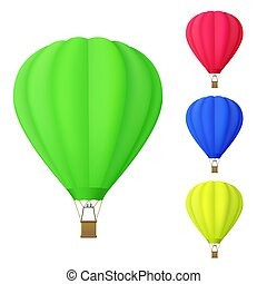 set of colorful Hot air balloon