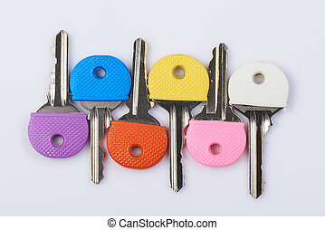 Set of colorful keys