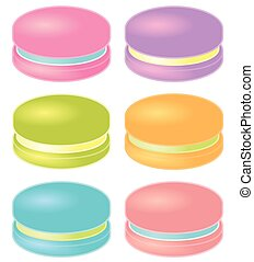 Set of Colorful Macarons. Vector Illustration.