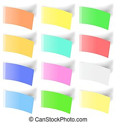 Set of Colorful Notes