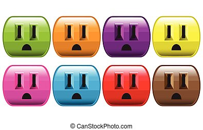 Set Of Colorful Outlets