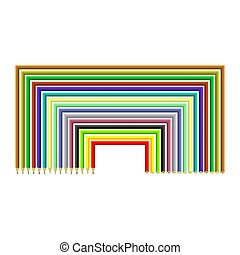 Set of Colorful Pencils Isolated on White Background