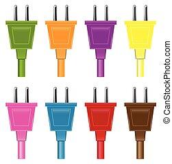 Set Of Colorful Plugs