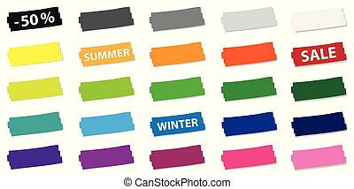 set of colorful price offer tags for promotion