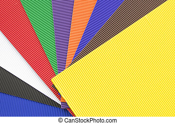 Set of colorful rubber cellular sheets or yoga mats.