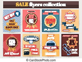 Set of colorful Sale flyers. Best creative design for Sale and Discount Offers poster, placard, brochure, banner, presentation with place for text.