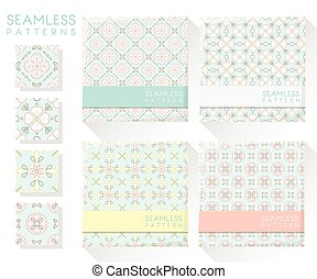 Set of colorful seamless patterns 2