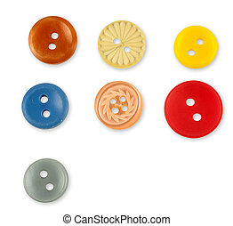 Set of colorful sewing buttons