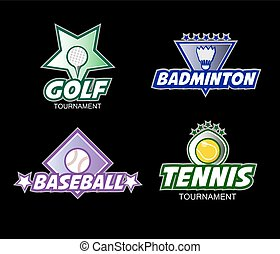 Set of colorful sports logos.