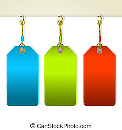 Set of colorful tag labels