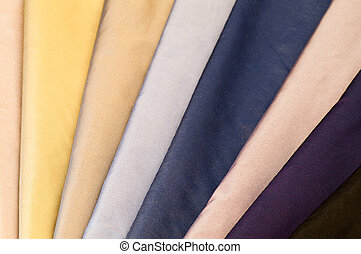 Set of colorful textiles
