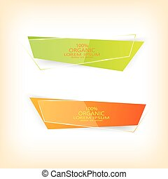 Set of colorful vector banners . Eco design