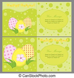 Set of colorful vector easter card