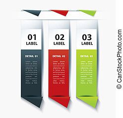 Set of Colorful Vector label paper