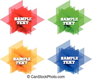 Set of colorful vector labels