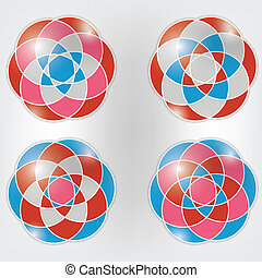 Set of colorful vector ornaments
