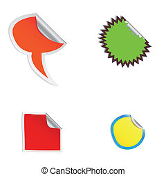 Set Of Colorful Vector Sale Stickers And Labels