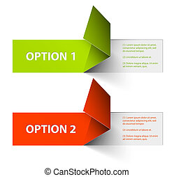 Set of Colorful Vector Sample option stickers - Set of ...