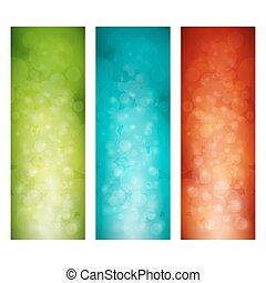 Set of Colorful Vertical Banners