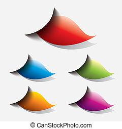 set of colorful web button