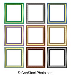 Set of Colorful Wooden Frames
