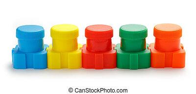 Set of colour paints