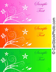 Set of colourful banners