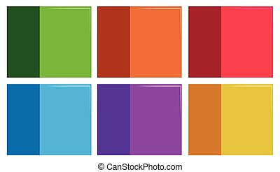 Set of colourful template