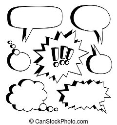Set of comic bubbles. - Set of comic bubbles isolated on...