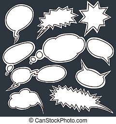 Set of comic style talk clouds