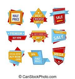 Set of commerce emblems