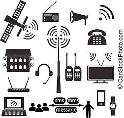 Set of communication icons - Vector set of communication...