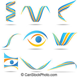 set of Company Logos. - Set of company logos. Vector...