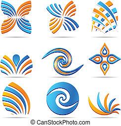 set of Company Logos. - Set of company logos. Vector...