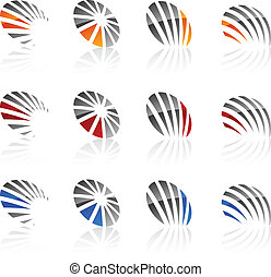 Set of Company symbols. - Abstract company symbols. Vector...