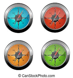 set of compass icons