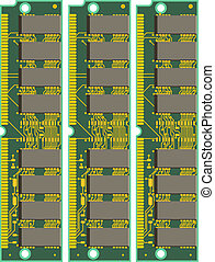 Set of Computer RAM Cards