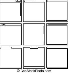 Computer window frames