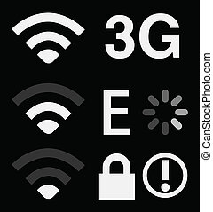 Set of connection sign on smartphone
