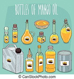 Set of containers with Mango Oil