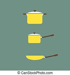 Set of Cooking Pot And Pan.