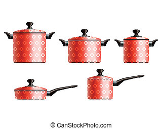 Set of cooking pots